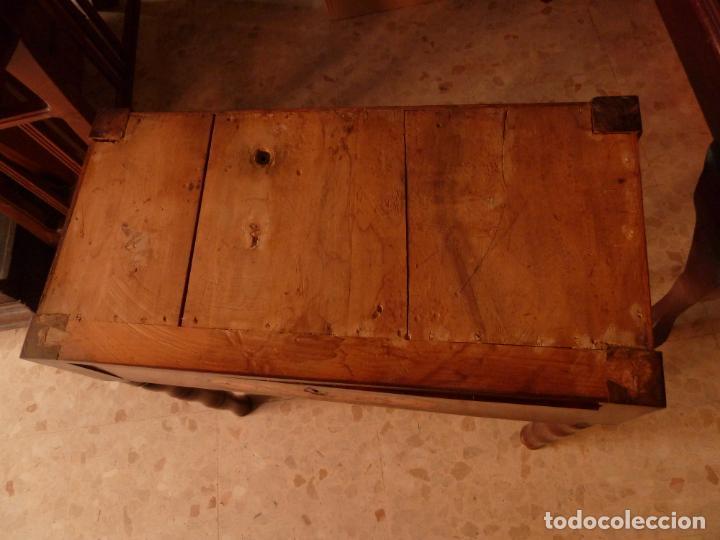 Antigüedades: MESA DE JUEGO DESPLEGABLE CON MARQUETERÍA – ÉPOCA ISABELINA - Foto 11 - 144499250