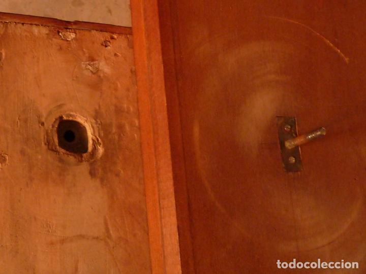 Antigüedades: MESA DE JUEGO DESPLEGABLE CON MARQUETERÍA – ÉPOCA ISABELINA - Foto 12 - 144499250