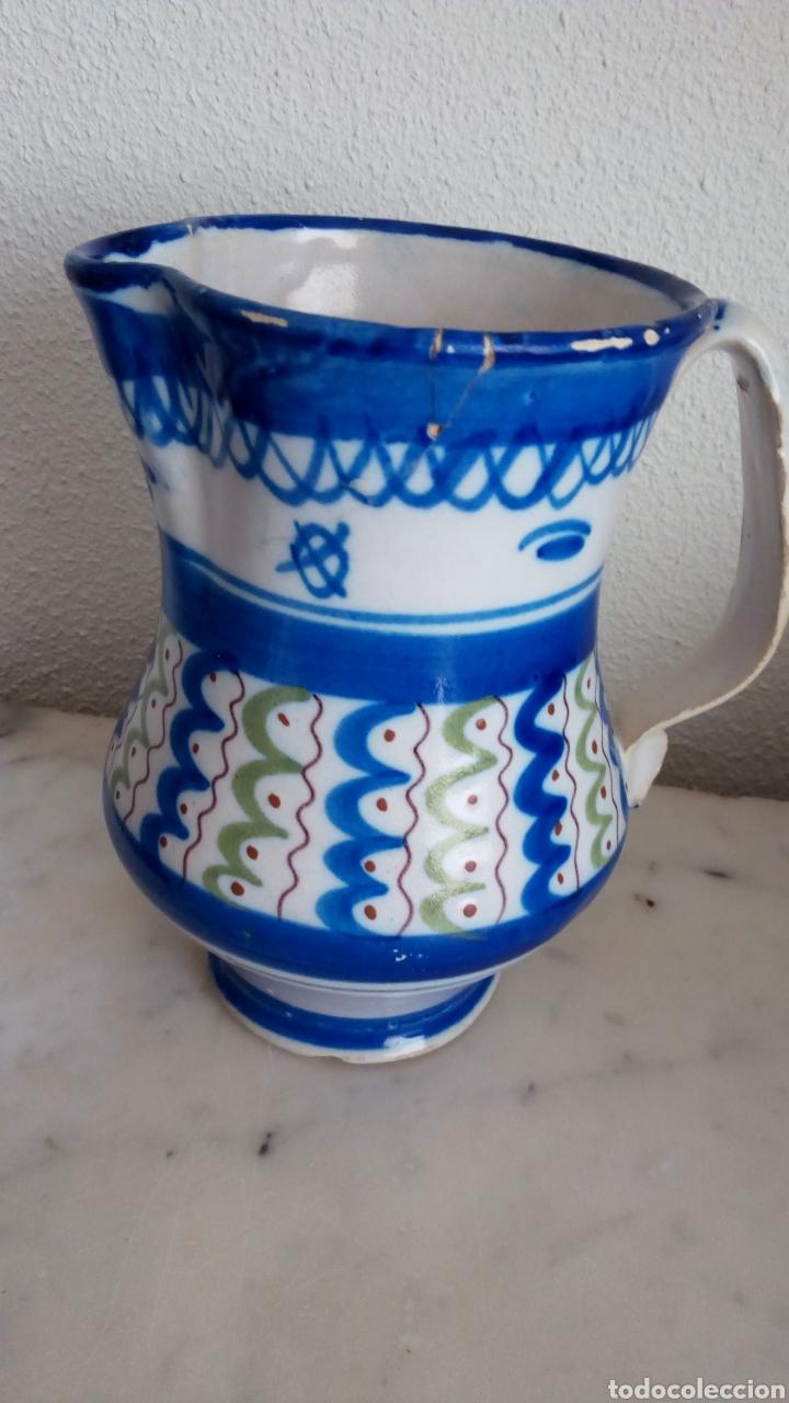 JARRA CERÁMICA LEVANTINA. SIGLO XIX. ESMALTADA. FIRMADA (Antigüedades - Porcelanas y Cerámicas - Otras)