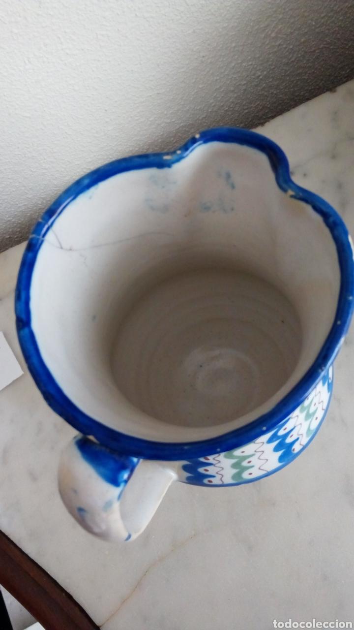 Antigüedades: Jarra cerámica levantina. Siglo XIX. Esmaltada. Firmada - Foto 5 - 144548684