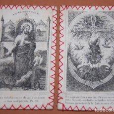Antigüedades: ESCAPULARIO DEL SIGLO XIX SAGRADO CORAZON DE JESUS. Lote 144548918