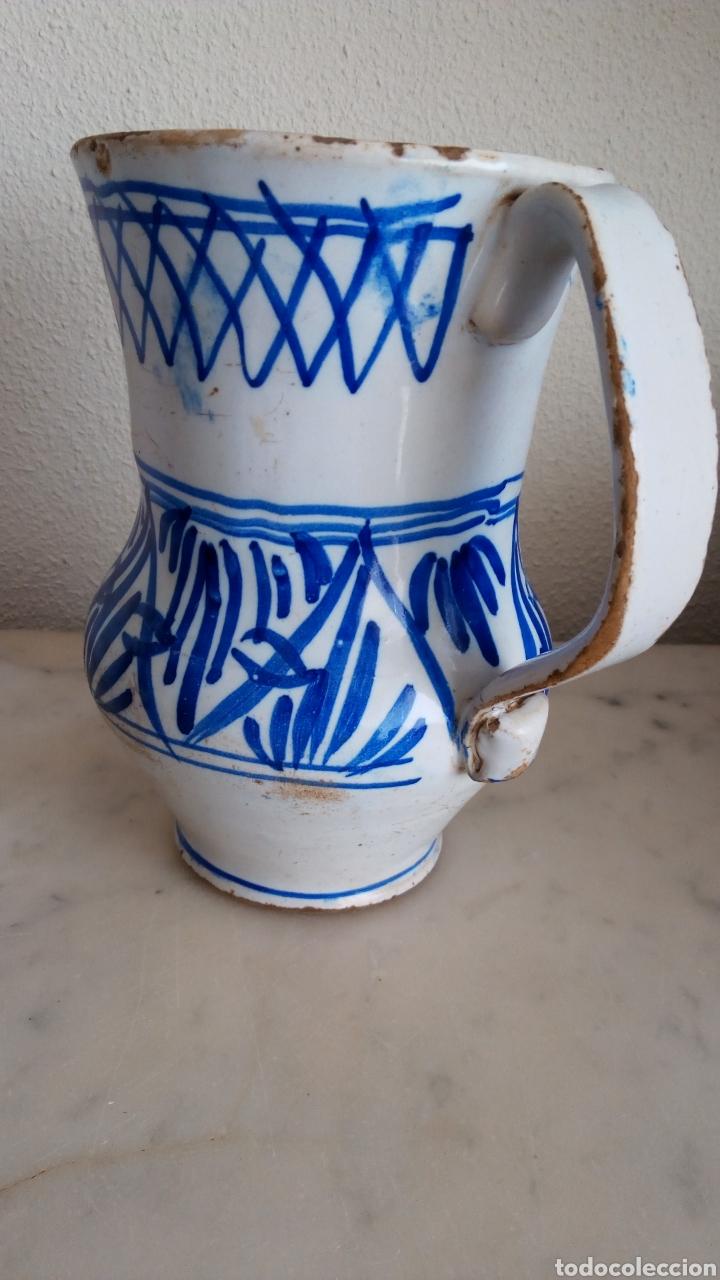 JARRA CERÁMICA LEVANTINA. ESMALTADA. SIGLO XIX (Antigüedades - Porcelanas y Cerámicas - Otras)