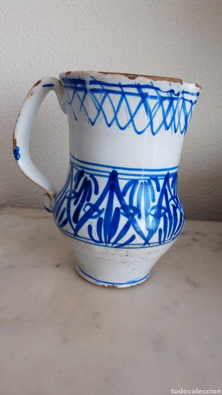 Antigüedades: Jarra cerámica levantina. Esmaltada. Siglo XIX - Foto 2 - 144549376