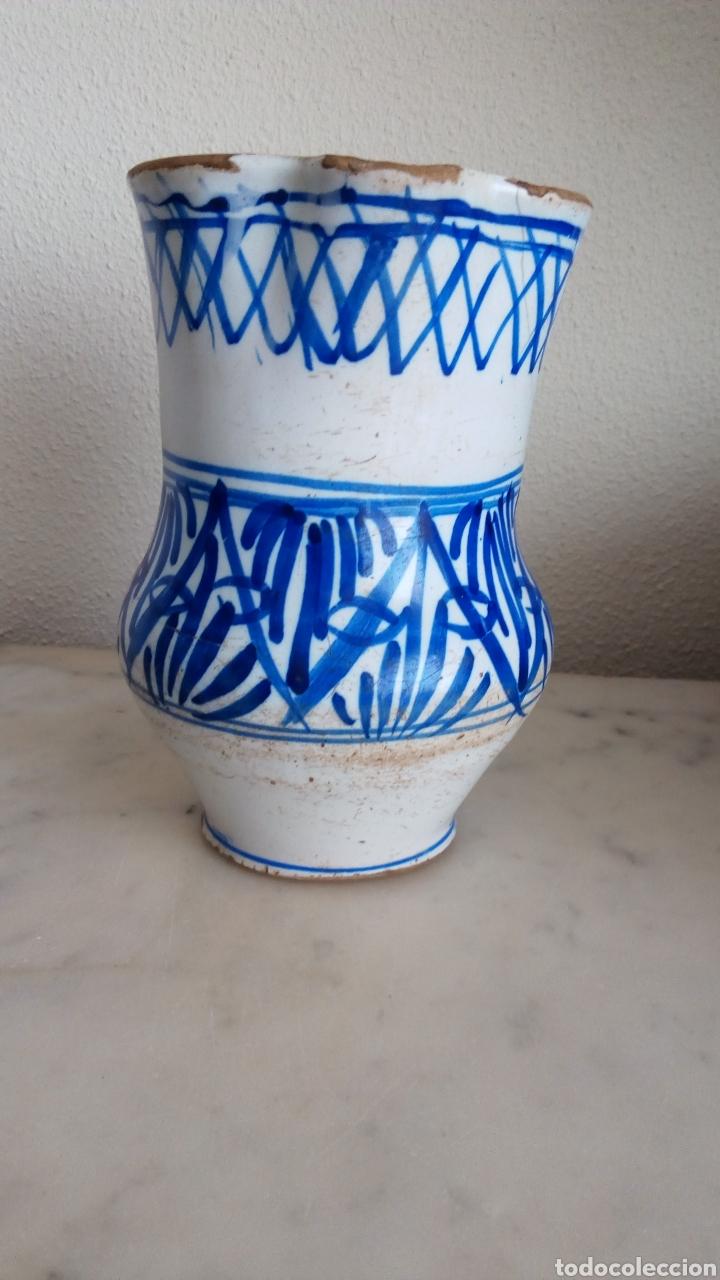 Antigüedades: Jarra cerámica levantina. Esmaltada. Siglo XIX - Foto 3 - 144549376