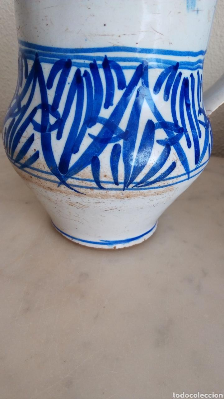 Antigüedades: Jarra cerámica levantina. Esmaltada. Siglo XIX - Foto 4 - 144549376