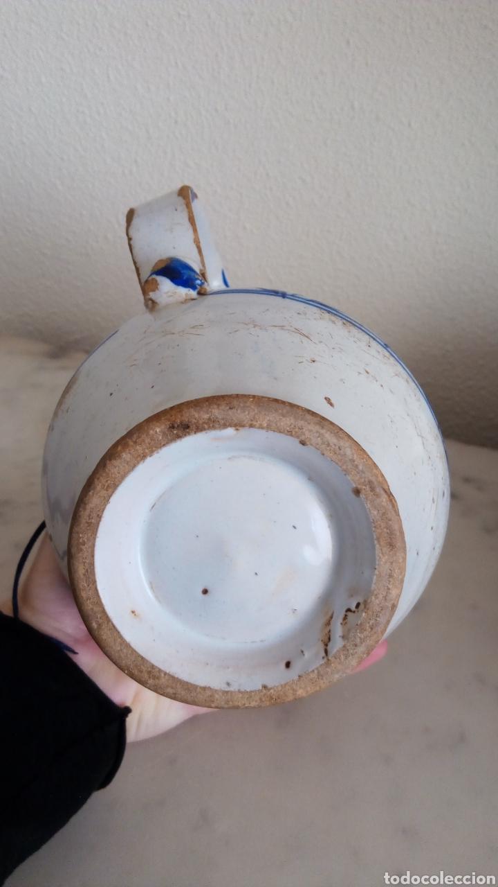 Antigüedades: Jarra cerámica levantina. Esmaltada. Siglo XIX - Foto 5 - 144549376