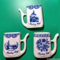 Antigüedades: 3 JARRITAS DE PORCELANA CHECA. Lote 144565105