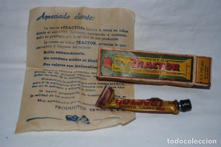 TRACTOR, CREMA PARA EL CALZADO (Antigüedades - Moda - Otros)