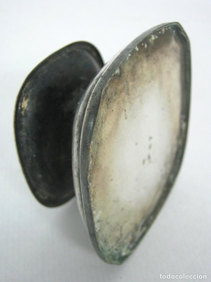 Antigüedades: Antiguo candelabro hachero metal plateado - aleman WMF - Foto 3 - 144580134