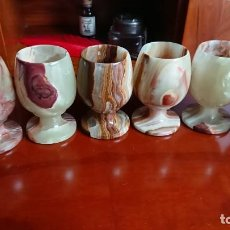 Antigüedades: COPAS DE COÑAC MÁRMOL 6. Lote 144583510