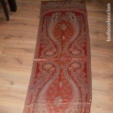 Antigüedades: FULAR CON HILO DORADO Y PLATEADO. Lote 144587034