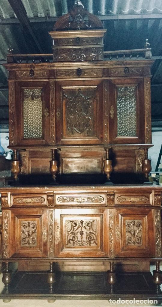 BUFET ALACENA VITRINA ALFONSINA (Antigüedades - Muebles Antiguos - Aparadores Antiguos)