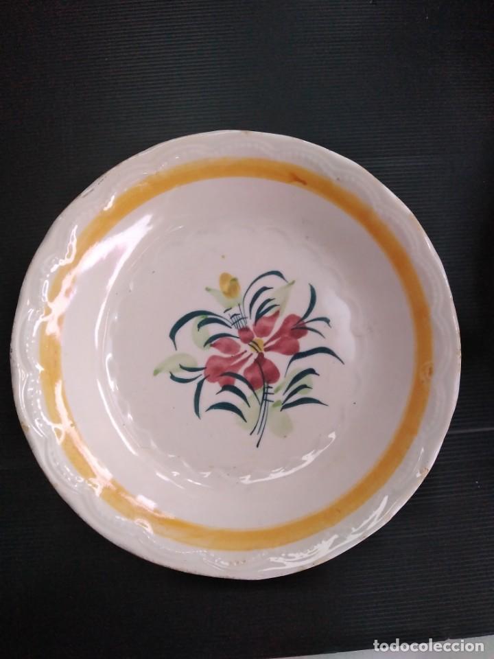 CARTAGENA, ANTIGUO PLATO SIGLO XIX (Antigüedades - Porcelanas y Cerámicas - Cartagena)