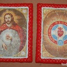 Antigüedades: ESCAPULARIO DEL SIGLO XIX CORAZON DE JESUS APOSTOLADO DE LA ORACION-A. Lote 144611802