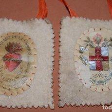 Antigüedades: ESCAPULARIO DEL SIGLO XIX APOSTOLADO DE LA ORACION-B. Lote 144612798