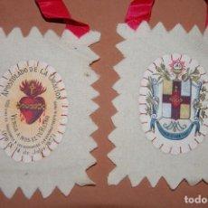 Antigüedades: ESCAPULARIO DEL SIGLO XX APOSTOLADO DE LA ORACION-C. Lote 144612974