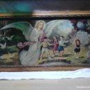 Antigüedades: PRECIOSA LITOGRAFÍA RELIGIOSA (ANGEL DE LA GUARDA) AÑOS 50.. Lote 144634970