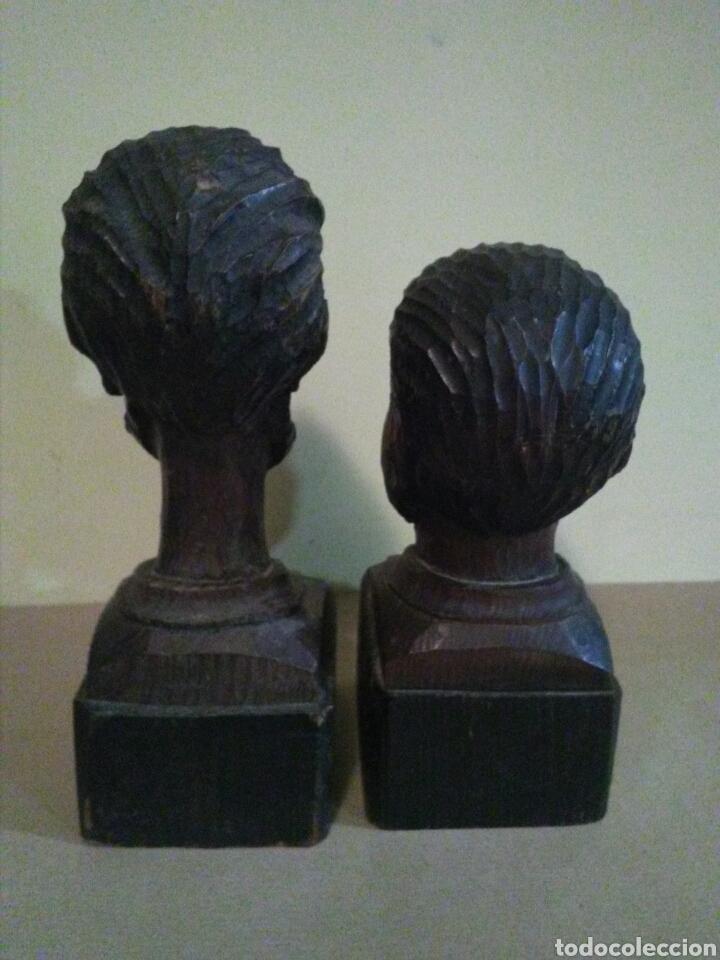 Antigüedades: Bustos madera DON QUIJOTE y SANCHO PANZA ( OURO) - Foto 2 - 144642153