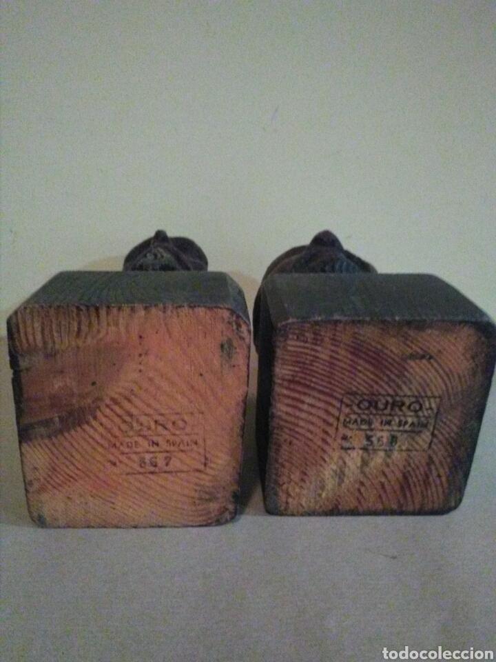 Antigüedades: Bustos madera DON QUIJOTE y SANCHO PANZA ( OURO) - Foto 3 - 144642153