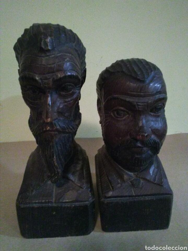 Antigüedades: Bustos madera DON QUIJOTE y SANCHO PANZA ( OURO) - Foto 4 - 144642153
