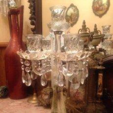 Antiguidades: ANTIGUO CANDELABRO DE CRISTAL .. Lote 144651330