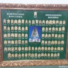 Antigüedades: CUADRO HERMANDADES DEL ROCIO 48X59CM. Lote 144666709