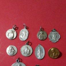 Antigüedades: LOTE DE 10 MEDALLAS RELIGIOSAS. DE 2 A 0,9 CM.. Lote 144683273