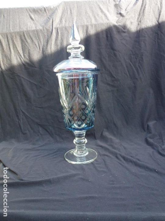 Antigüedades: Cáliz de cristal, bombonera, tibor de cristal de bohemia - Foto 3 - 144694446