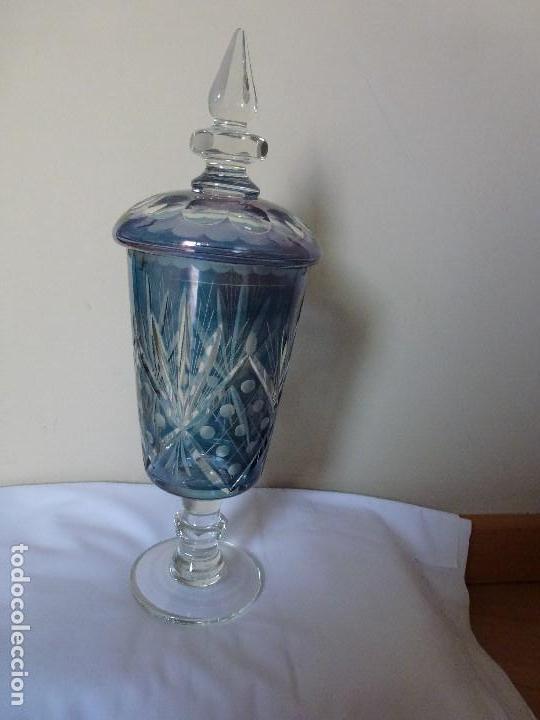 Antigüedades: Cáliz de cristal, bombonera, tibor de cristal de bohemia - Foto 11 - 144694446