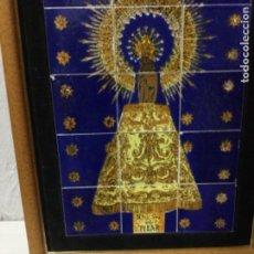 Antigüedades: MOSAICO CERÁMICA.VIRGEN DE PILAR. Lote 144653918