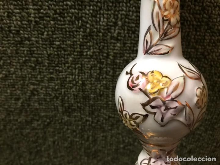 Antigüedades: LAMPARA TECHO PORCELANA CRISTAL Y BRONCE - Foto 3 - 144708414