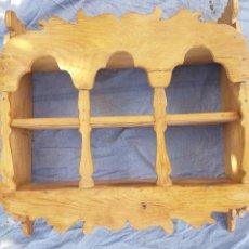 Antigüedades: MAGNÍFICA ALACENA RÚSTICA ESTANTE DE COCINA. Lote 144715865