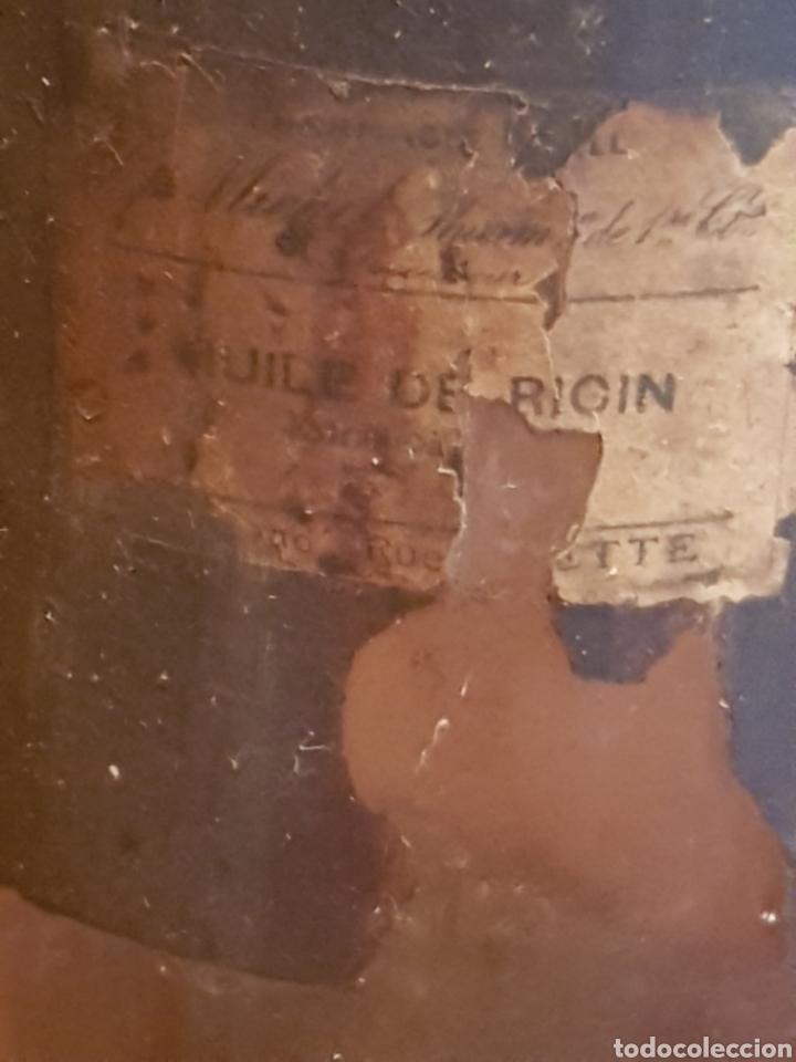 Antigüedades: Singular bote botella de cristal farmacia cuello estrecho boca ancha - Foto 7 - 144762641