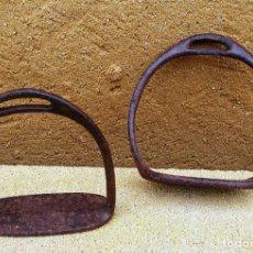 Antigüedades: ESTRIBOS DE HIERRO ANTIGUOS, CABALLO. Lote 144765986