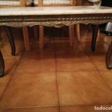 Antigüedades: MESA DE MÁRMOL Y BRONCE . Lote 144799354