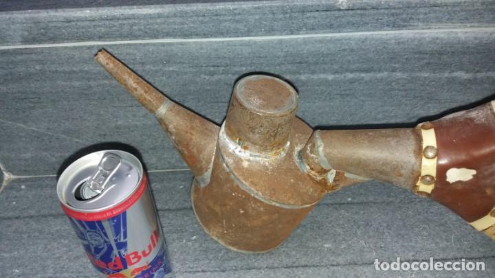 Antigüedades: Máquina manual para AZUFRE AZUFRADORA PAVA de madera y hojalata lata chapa sulfatadora SOPLADOR - Foto 2 - 144821926