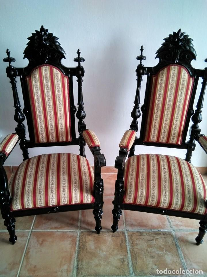 Antigüedades: Sillas y sillones alfonsinos - Foto 4 - 144827454