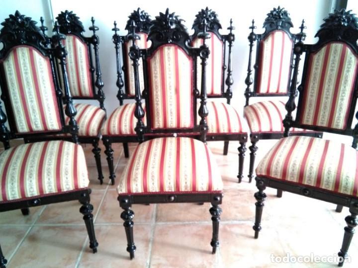 Antigüedades: Sillas y sillones alfonsinos - Foto 5 - 144827454