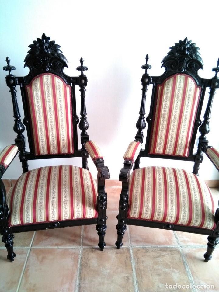 Antigüedades: Sillas y sillones alfonsinos - Foto 14 - 144827454