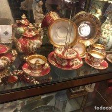 Antigüedades: JUEGO CAFÉ EN PORCELANA FRANCESA VIEJO PARIS SIGLO XIX. Lote 144828162