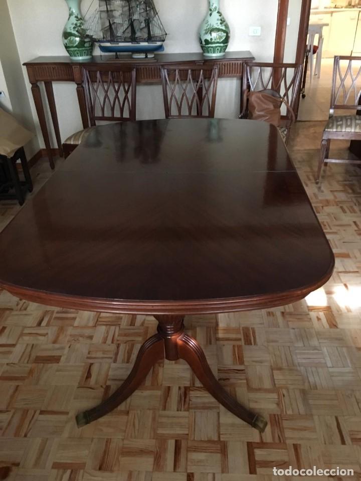 Antigüedades: Mesa de comedor y 8 sillas a juego - Foto 3 - 96804207