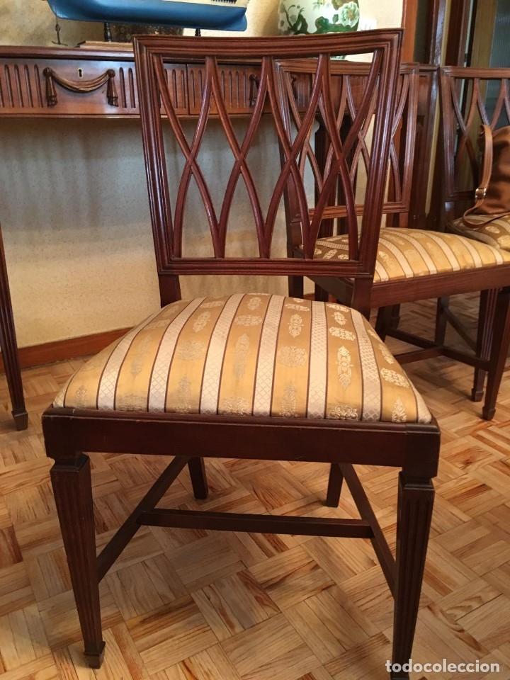 Antigüedades: Mesa de comedor y 8 sillas a juego - Foto 6 - 96804207