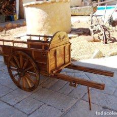 Antigüedades: CARRO DE BUEYES MADERA, APERO DE LABRANZA, APE365, ELDELPUEB ZA-12. Lote 144898262