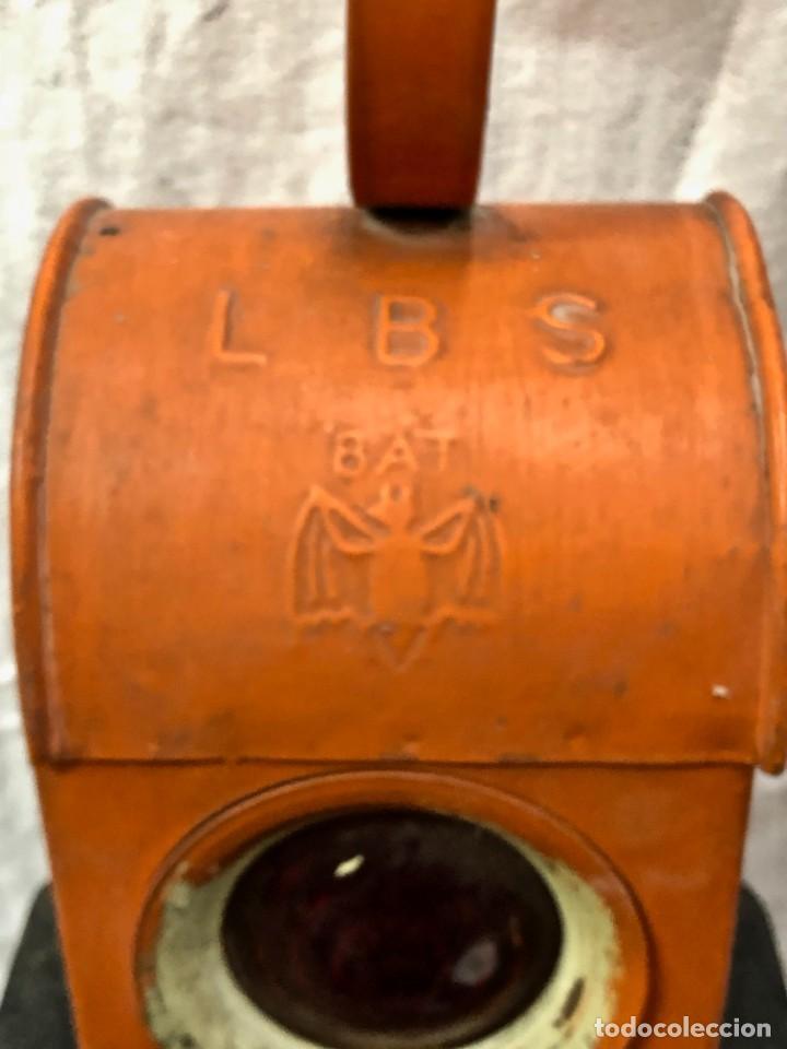 Antigüedades: Antiguo Farol Lampara o linterna Ferroviario de Aceite - Auténtico Muy Buen Estado - Foto 2 - 144911162