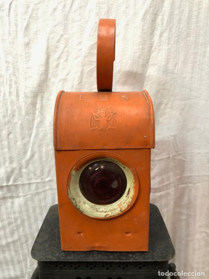 Antigüedades: Antiguo Farol Lampara o linterna Ferroviario de Aceite - Auténtico Muy Buen Estado - Foto 6 - 144911162