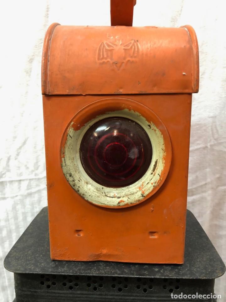 Antigüedades: Antiguo Farol Lampara o linterna Ferroviario de Aceite - Auténtico Muy Buen Estado - Foto 7 - 144911162