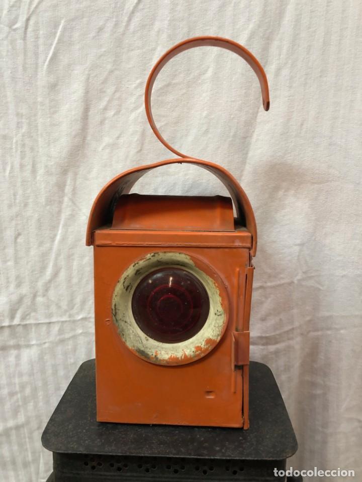 Antigüedades: Antiguo Farol Lampara o linterna Ferroviario de Aceite - Auténtico Muy Buen Estado - Foto 8 - 144911162