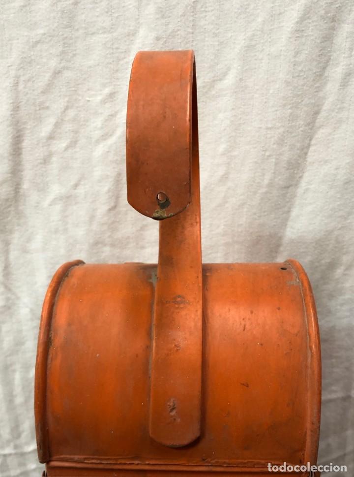 Antigüedades: Antiguo Farol Lampara o linterna Ferroviario de Aceite - Auténtico Muy Buen Estado - Foto 11 - 144911162