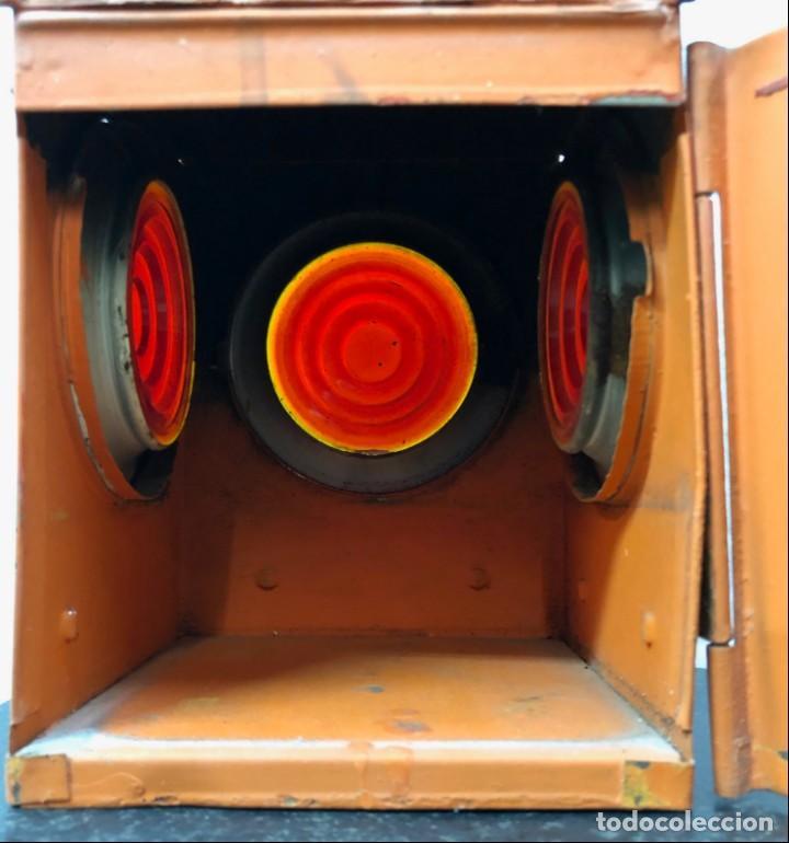 Antigüedades: Antiguo Farol Lampara o linterna Ferroviario de Aceite - Auténtico Muy Buen Estado - Foto 15 - 144911162
