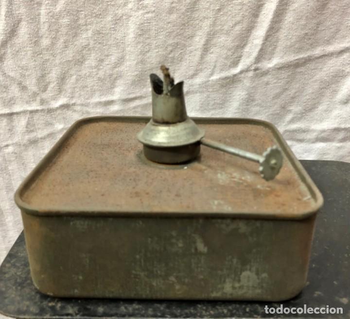 Antigüedades: Antiguo Farol Lampara o linterna Ferroviario de Aceite - Auténtico Muy Buen Estado - Foto 16 - 144911162